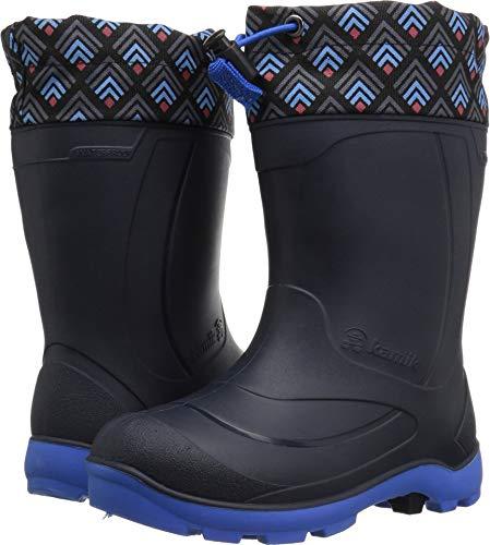 Kamik Boys' SNOBUSTER2 Snow Boot, Navy/Blue, 12 Medium US Little Kid