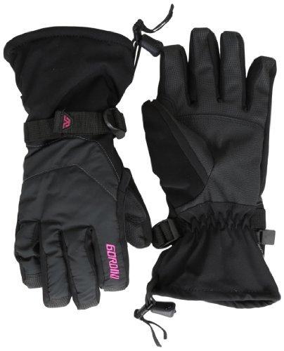 Gordini Women's Aquabloc Down Gauntlet Gloves, Black, Medium by Gordini