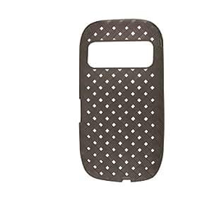 Caso del patrón gris de plástico suave Square Agujero para Nokia C7