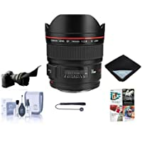 Canon EF 14mm f/2.8L II USM Wide Angle Lens - USA Warranty - Bundle with Lens Wrap 15X15, Flex Lens Shade, Cleaning Kit, Lens Cap Leash, with Pro Software Package