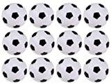 Foosball Balls Pack - 12-Count 1.4 Inches Mini Table Soccer Balls Replacements - Office and House Entertainment, Sports, Soccer Party and Tailgate Party Supplies, Black and White, 1.4 Inches, 36 mm