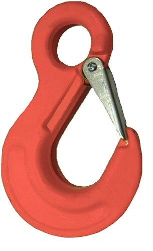 "All Material Handling CAX06SF Eye Sling Hook with Latch, G100 Alloy Chain Fittings, 7/32"" Size"