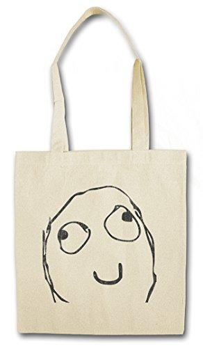 HAPPY SMILE MEME Hipster Bag Beutel Stofftasche Einkaufstasche