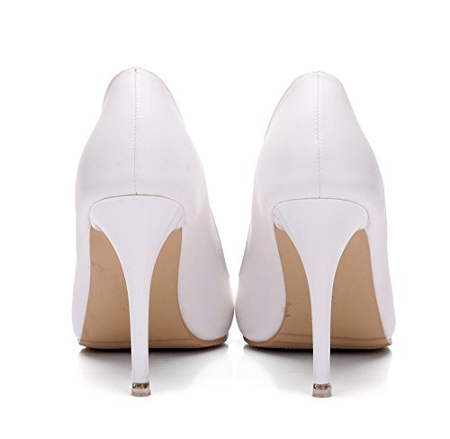 Office Sexy Pumps Slip 0 0 Dress White Women's Women On coollight Toe Pointed Heels For Pumps Kitten Shoes 8Od8q