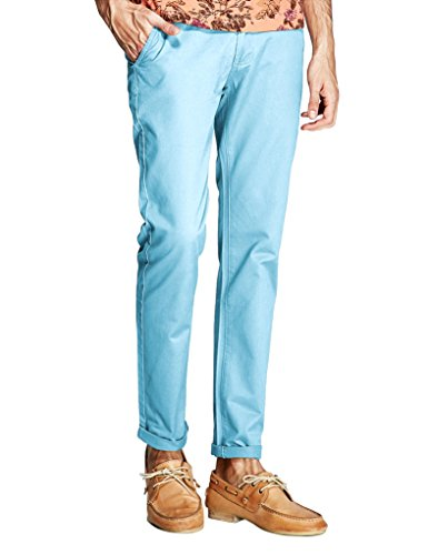 Match Mens Slim-Tapered Flat-Front Casual Pants (32, 8105 Navy blue)