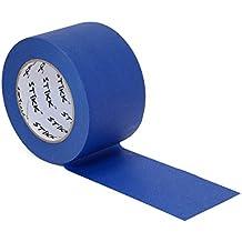 "1pk 3"" x 60yd STIKK Blue Painters Tape 14 Day Clean Release Trim Edge Finishing Masking Tape (2.82 IN 72MM)"
