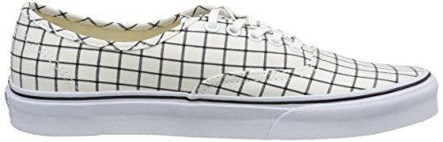 Top White Vans True Authentic Sneakers Adults' Unisex Low Grid White rrHYfqAI