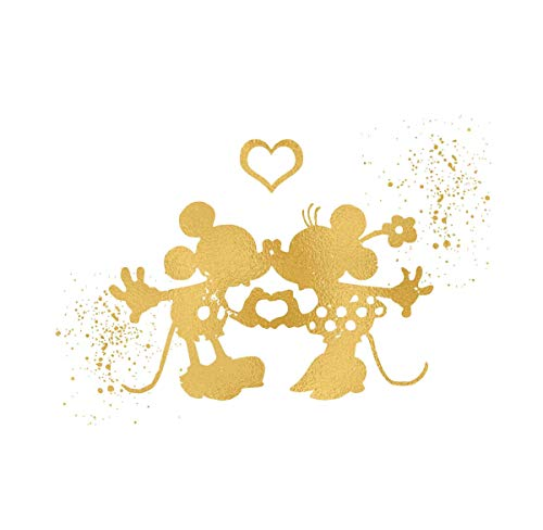 Mickey Mouse Prints - Simply Remarkable Inspired by Mickey and Minnie Mouse Love and Friendship - Poster Print Photo Quality - Made in USA - Disney Inspired - Home Art Print -Frame not Included (8x10, Kiss)