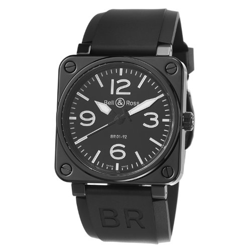 Bell-Ross-Mens-BR01-92-BLACK-CERAMIC-Avation-Black-Dial-and-Rubber-Strap-Watch