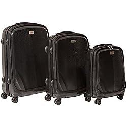 "CASED One - 22"", 26"", and 30"" Hard Case Luggage (Set of 3) (22"", 26"" & 30"", Black)"