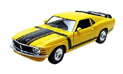 Maisto 1/24 Scale Diecast Custom Shop 1970 Ford Mustang Boss 302 in Color Yellow ()