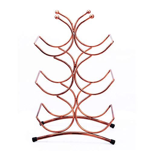 (Vinteen Creative Coral Iron Art Red Wine Frame European Style Grape Wine Rack Home Put Cast Dining Table Coffee Table Decoration Wine Holder Bar Counter Wine Shelf Red Wine Rack)