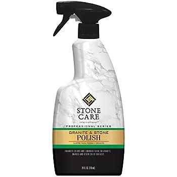 Stone Care International Granite Stone Polish - 24 Ounce - For Granite Marble Soapstone Quartz Quartzite Slate Limestone Corian Laminate Tile Countertop and ...