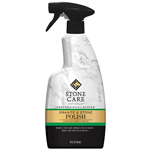 (Stone Care International Granite Stone Polish - 24 Ounce - For Granite Marble Soapstone Quartz Quartzite Slate Limestone Corian Laminate Tile Countertop and More)