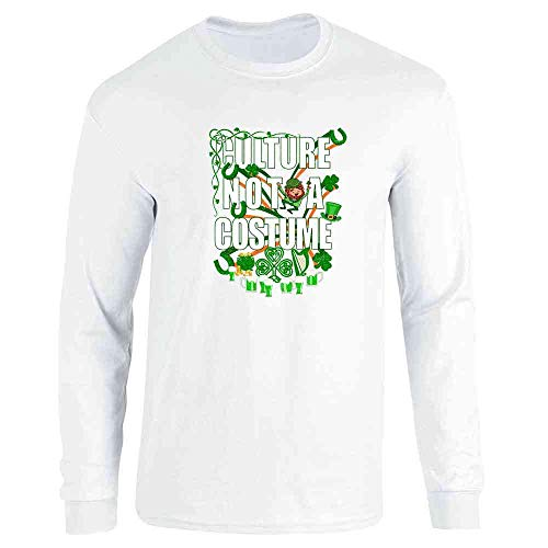 Culture Not A Costume St Patrick's Day White 3XL Long Sleeve ()