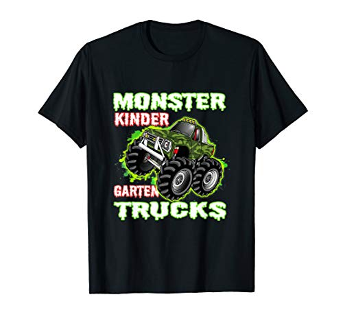 Monster Truck Kindergarten Tshirt First Day Student Trucks T-Shirt