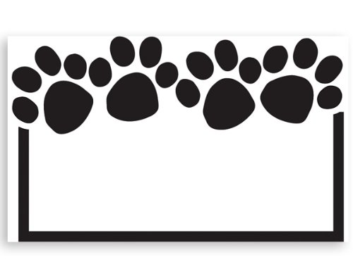 Pack Of 50, Paw Print Enclosure Card 3-1/2'' x 2-1/4'' Made In USA by Generic