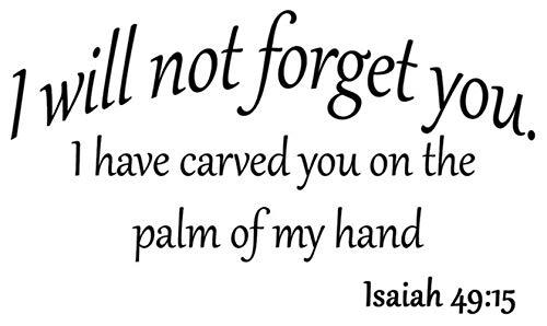 pegatinas de pared harry potter No te olvidare Te he tallado en la palma de mi mano Isaias 49