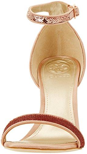 Rose con Mujer para Rosa y Footwear Tacon Zapatos Rose Tobillo Correa de Dress Sandal Guess wPqIpOTv