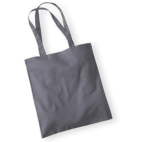 Westford MillBorsa in cotone con lunghi manici Grigio (Graphite Grey)