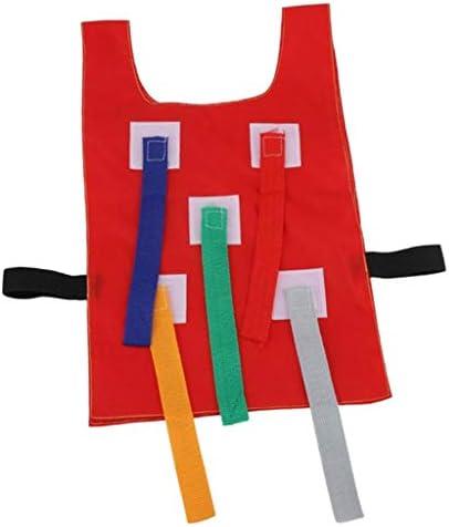 Toygogo 子供の幼児の幼稚園の屋外の演劇のための尾ゲームのベストのチョッキを引っ張って下さい - 赤
