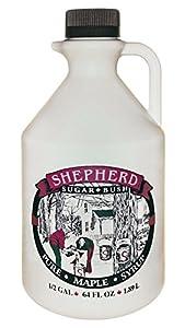 Shepherd Sugar Bush Michigan Maple Syrup Half Gallon (64 oz / 1.89 L)