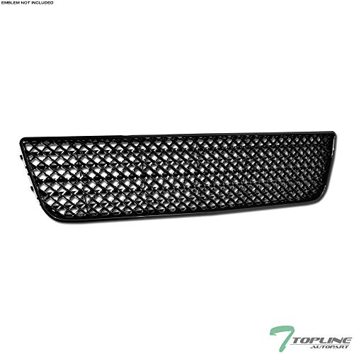 Topline Autopart Black Mesh Front Lower Bumper Grill Grille ABS For 06-13 Chevy Impala ; 14-16 Impala Limited ; 06-07 Monte Carlo ()