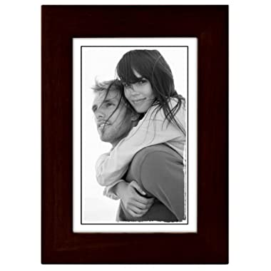 Malden International Designs Linear Classic Wood Picture Frame, Holds 4x6 Picture, Espresso