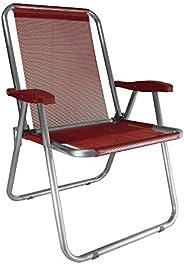 Cadeira Alumínio Max Vermelha Zaka Super Resistente 140 KG