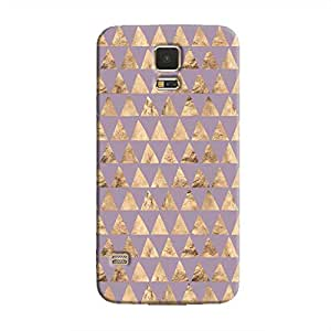 Cover It Up - Brown Violet Triangle Tile Galaxy S5 Hard Case