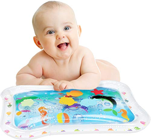 Bundaloo Baby Water Play Mat | Best Infant Toy for Fun Tummy Time | Little Inflatable Activity Center for Strength, Coordination, & Brain Development | Cute Portable Bouncy Gift for Baby Boys & Girls