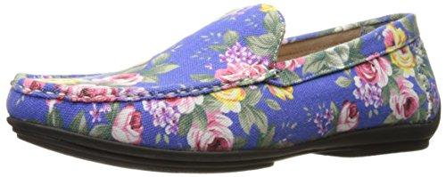 Stacy Adams Menns Bravur-floral Kjøring Moc Oxford Blå / Multi