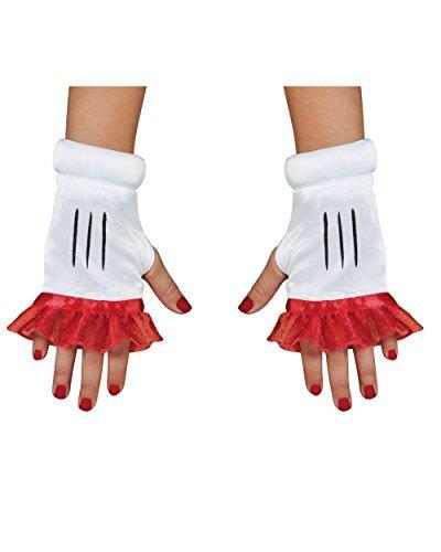 Disguise Costumes Red Minnie Glovettes, Girls