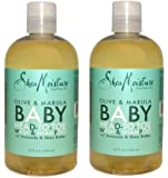 Shea Moisture - Olive & Marula Baby Head-to-Toe Wash & Shampoo with Avocado & Shea Butter - 13 oz. Set of 2