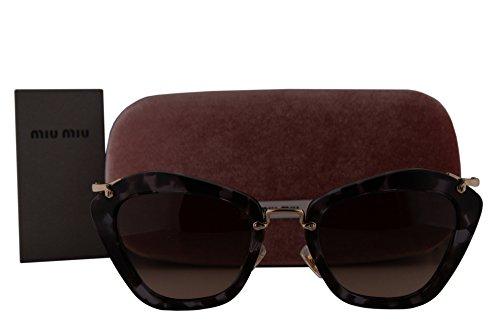 Miu Miu MU10NS Sunglasses Lilac Havana w/Brown Gradient Grey Lens UAH3D0 SMU10N MU 10NS SMU - Miu Sunglasses Miu 10ns