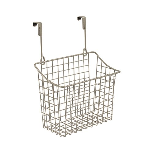 Spectrum Diversified Grid Storage Basket, Over the Cabinet, Medium, Satin ()