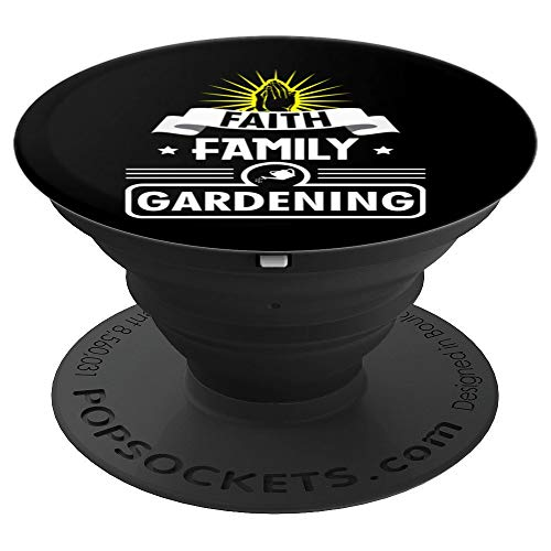 FAITH FAMILY GARDENING GIFT - Christian Gift - Bible Prayer - PopSockets Grip and Stand for Phones and Tablets