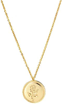 Gold and Rose Gold Plated Coin Pendant