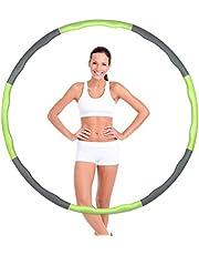 Hoelahoep, hoelahoepel voor volwassenen, fitnessbanden, 6-8 segmenten, hoelahoepel voor gewichtsverlies en massage, golfdesign hoelahoep voor fitness/sport/thuis/kantoor/buikvorming
