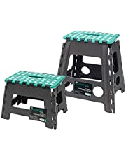 Save on JVL Small and Large Folding Step Stool, Grey, Large & Small and more