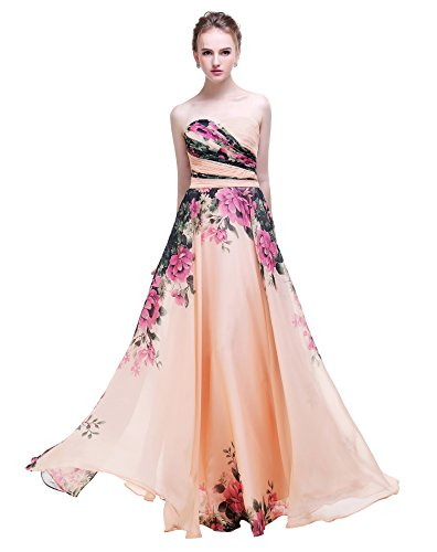 Printed Strapless Gown - 2