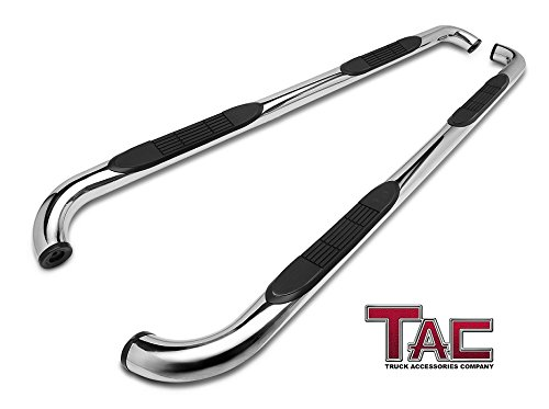"TAC Side Steps Fit Chevy Silverado/GMC Sierra 1999-2018 1500 & 1999-2019 2500/3500 Extended/Double Cab (Excl. C/K Classic) (Body Mount) Pickup Truck 3"" Stainless Steel Side Nerf Bars 2 Pieces"