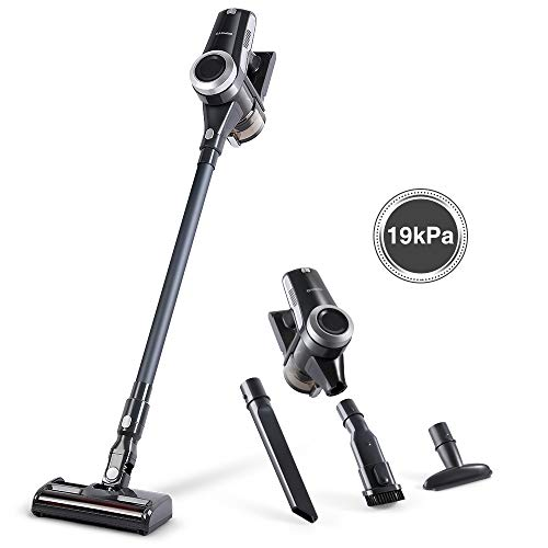 Alfawise 19 kPa Powerful Cordless Vacuum, 2 in 1 Lightweight Stick Vacuum Cleaner with 4 Brushes, High and Low Gear Adjustment, Brushless Motor, Rechargeable Handheld Vacuum Cleaner for Home Car