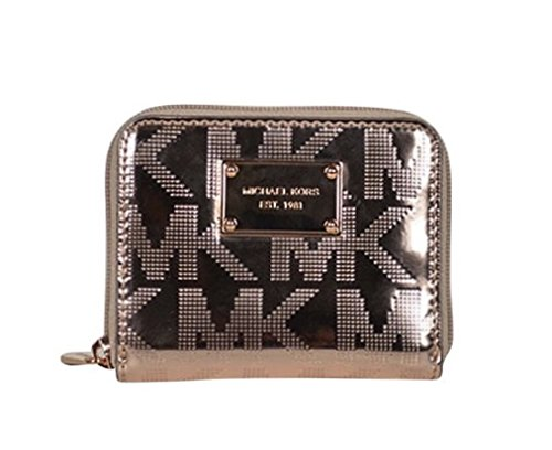 78f456eb6d77f8 Michael Kors Signature Mirror Metallic Zip Around Bifold Wallet Rose Gold -  Buy Online in UAE. | Shoes Products in the UAE - See Prices, Reviews and  Free ...
