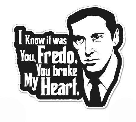 "OLS Studios Michael Corleone Fredo Godfather - Sticker Vinyl Decal Car Bumper Wall Locker Travel Room Decor 5"""