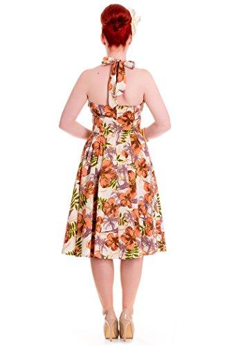 Blüten Kleine Bunny Kleid Dress Kaila Größen Mehrfarbig Swing Damen Tiki Hell qPaAxXwC