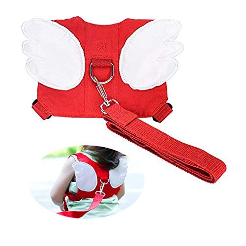 KOYUPI Baby Safety Walking Harness Child toddling Walk, Anti Lost rein Rope Reunion Child Assistant (red) For Sale