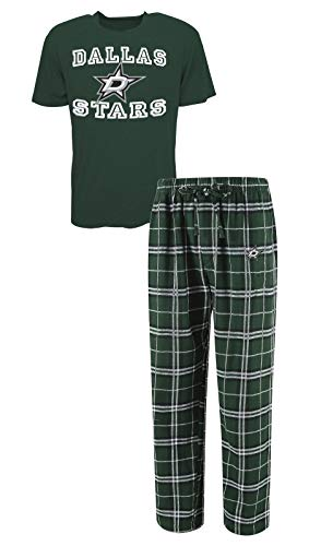 Concepts Sport Dallas Stars NHL Great Duo Men's T-Shirt & Flannel Pajama Sleep Set