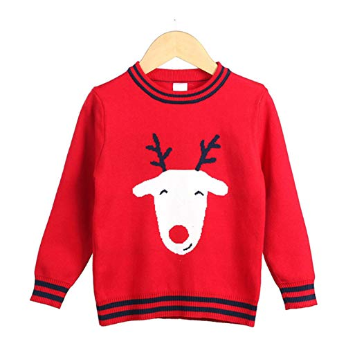 (Kids Boys Girls Knitwear Pullover Christmas Elk Knitting Pattern Sweater)