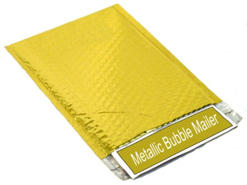 2000 Gold Metallic Glamour Bubble Mailers Padded Envelope Bags 7.5'' x 11'' by PackagingSuppliesByMail